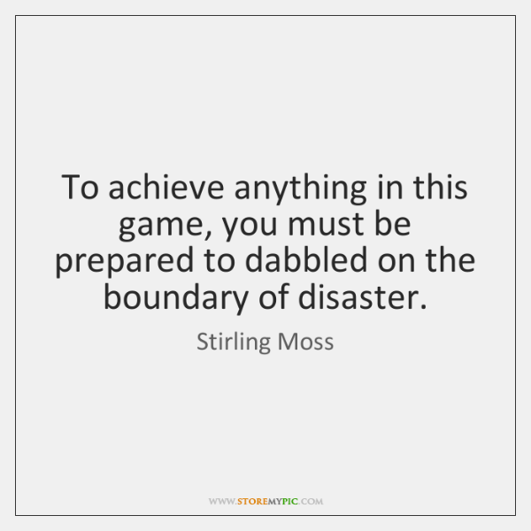 To achieve anything in this game, you must be prepared to dabbled ...