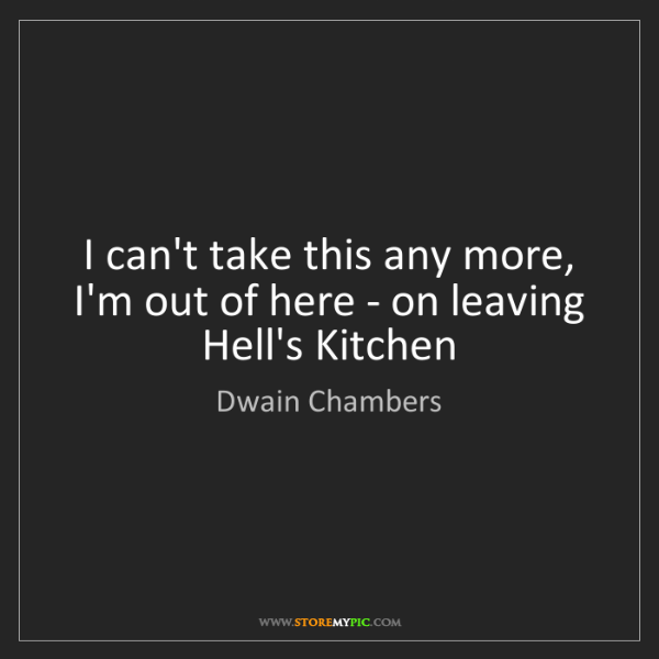 Dwain Chambers: I can't take this any more, I'm out of here - on leaving...