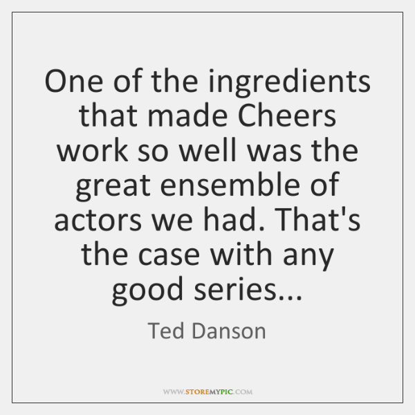 One of the ingredients that made Cheers work so well was the ...
