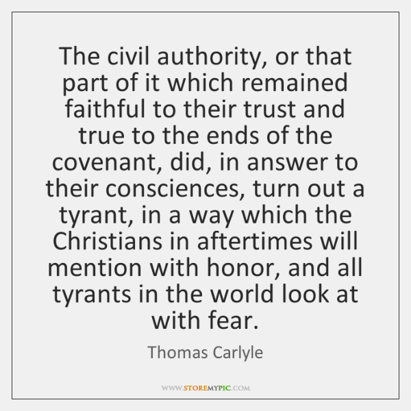 The civil authority, or that part of it which remained faithful to ...