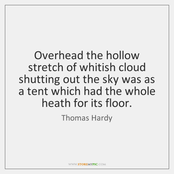 Overhead the hollow stretch of whitish cloud shutting out the sky was ...