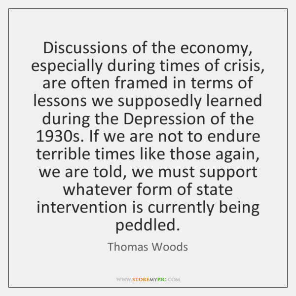 Discussions of the economy, especially during times of crisis, are often framed ...