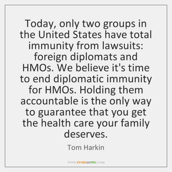 Today, only two groups in the United States have total immunity from ...