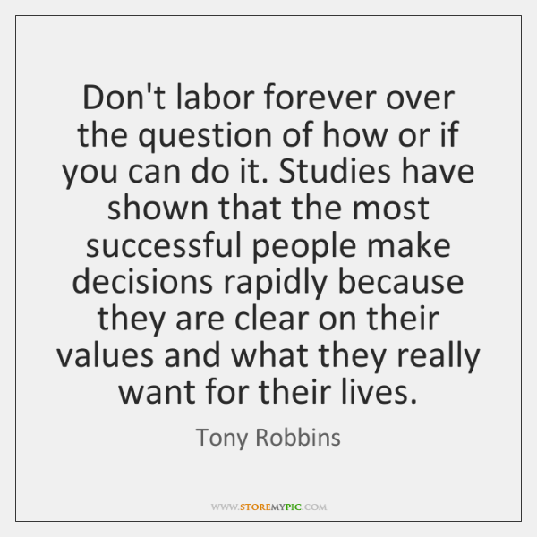 Don't labor forever over the question of how or if you can ...