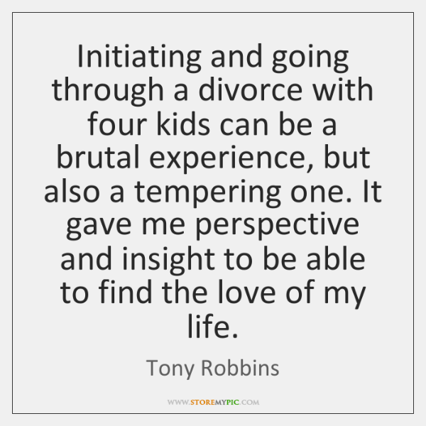 Initiating and going through a divorce with four kids can be a ...