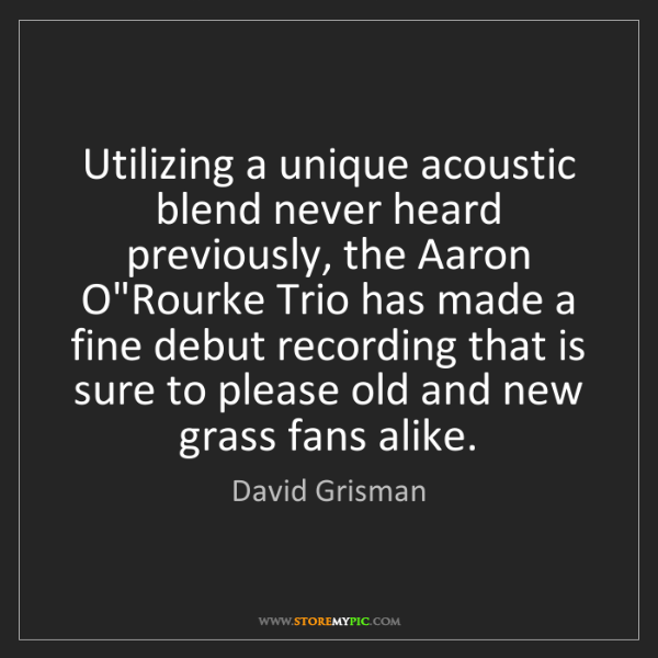David Grisman: Utilizing a unique acoustic blend never heard previously,...
