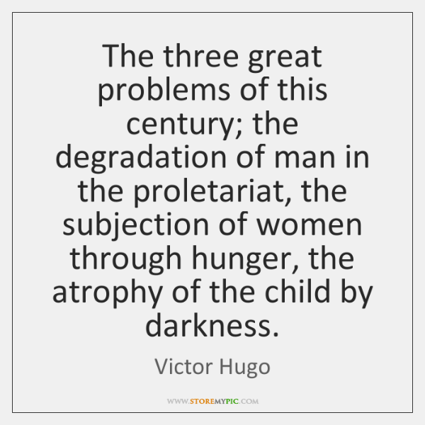 The three great problems of this century; the degradation of man in ...