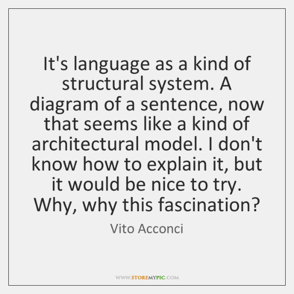 It's language as a kind of structural system. A diagram of a ...
