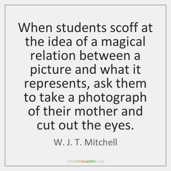 When students scoff at the idea of a magical relation between a ...
