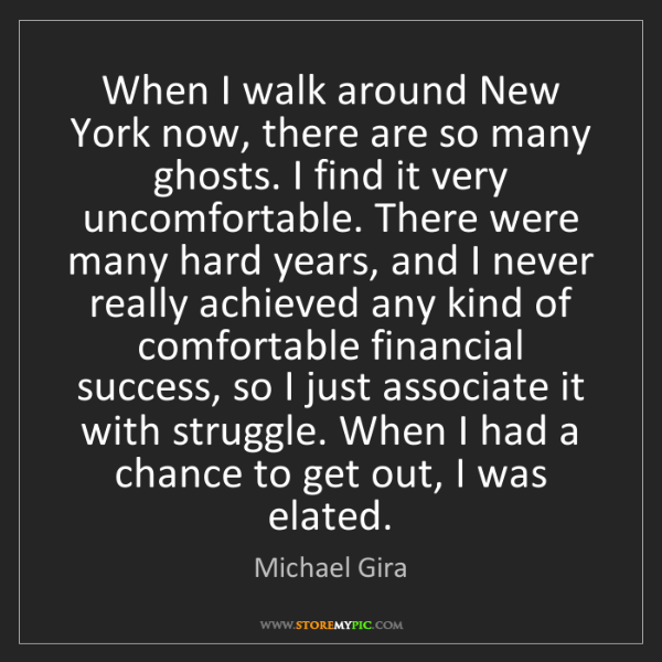 Michael Gira: When I walk around New York now, there are so many ghosts....