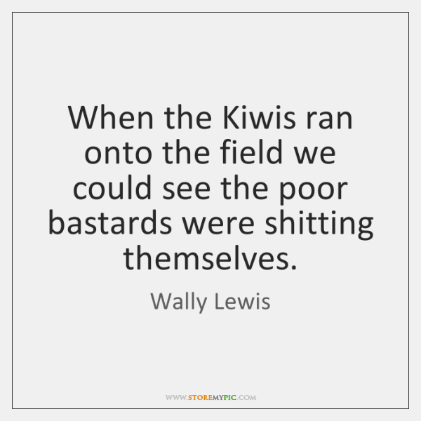 When the Kiwis ran onto the field we could see the poor ...