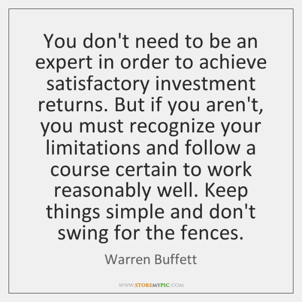 You don't need to be an expert in order to achieve satisfactory ...