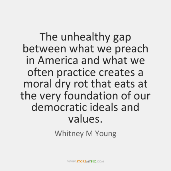 The unhealthy gap between what we preach in America and what we ...