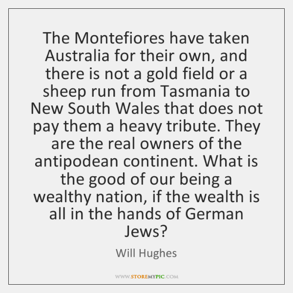 The Montefiores have taken Australia for their own, and there is not ...