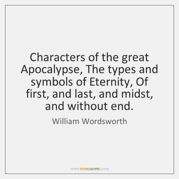 Characters of the great Apocalypse, The types and symbols of Eternity, Of ...
