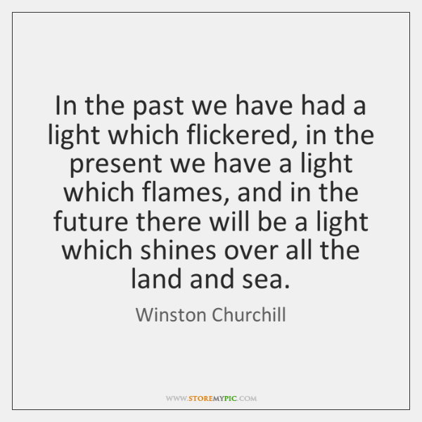In the past we have had a light which flickered, in the ...