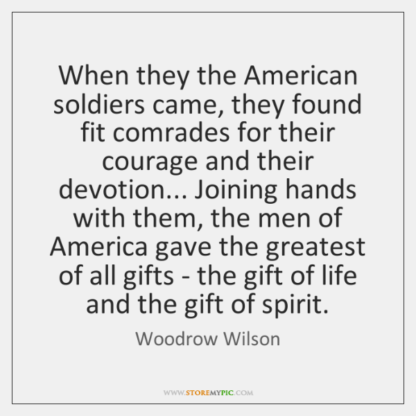 When they the American soldiers came, they found fit comrades for their ...