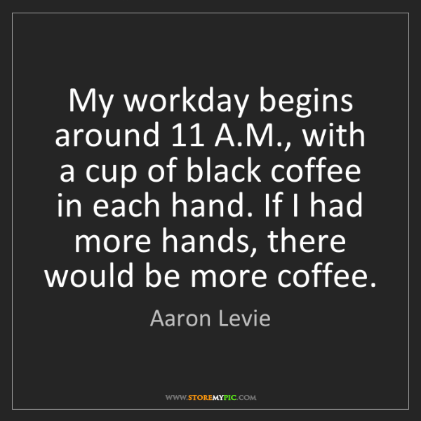 Aaron Levie: My workday begins around 11 A.M., with a cup of black...