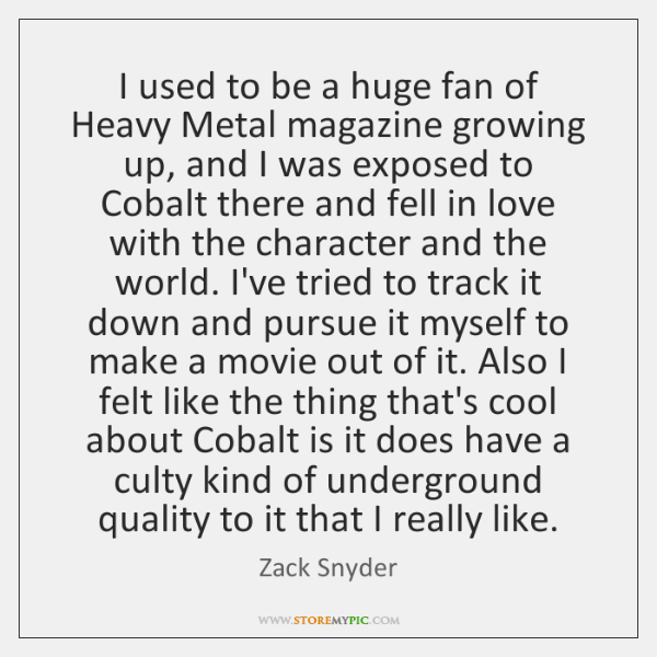 I used to be a huge fan of Heavy Metal magazine growing ...