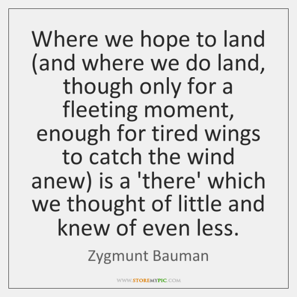 Where we hope to land (and where we do land, though only ...