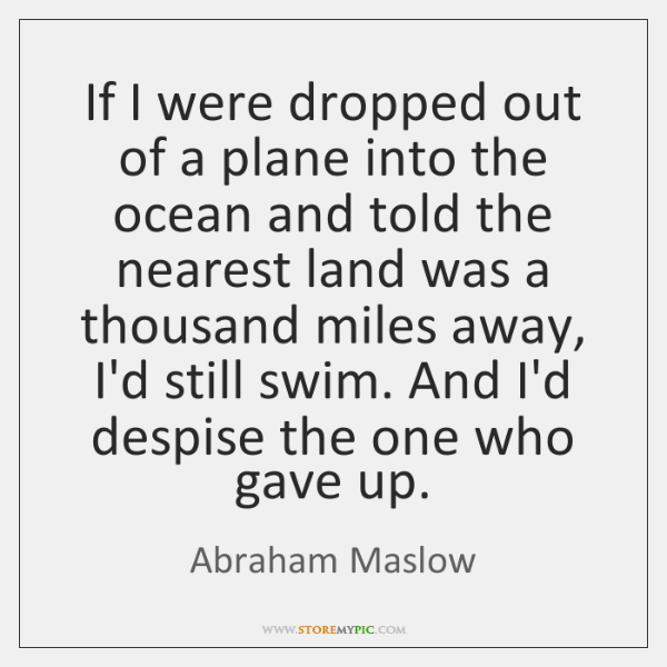 If I were dropped out of a plane into the ocean and ...
