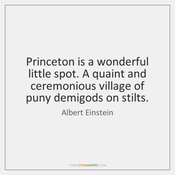 Princeton is a wonderful little spot. A quaint and ceremonious village of ...