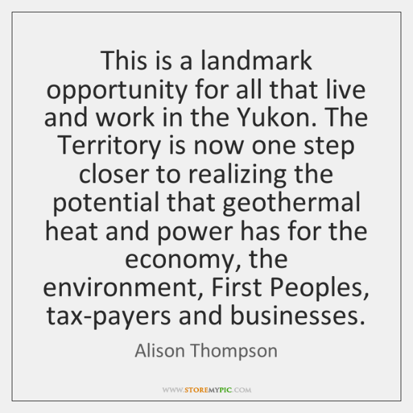 This is a landmark opportunity for all that live and work in ...