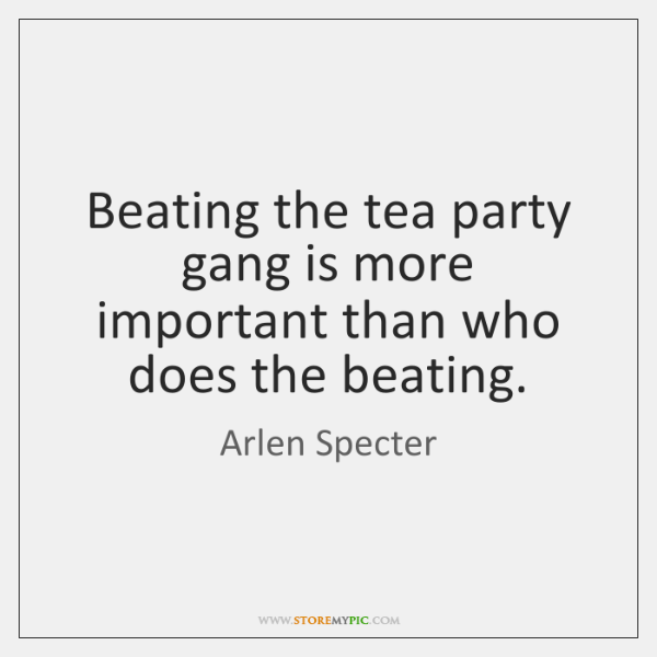 Beating the tea party gang is more important than who does the ...