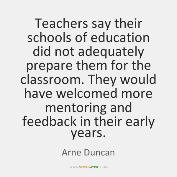 Teachers say their schools of education did not adequately prepare them for ...