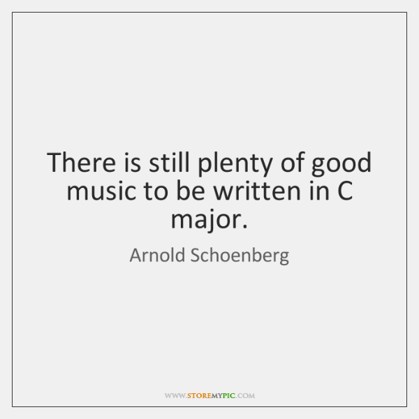 There is still plenty of good music to be written in C ...