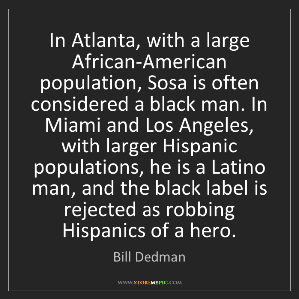 Bill Dedman: In Atlanta, with a large African-American population,...
