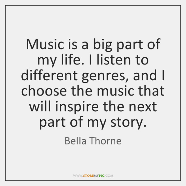 Music is a big part of my life. I listen to different ...