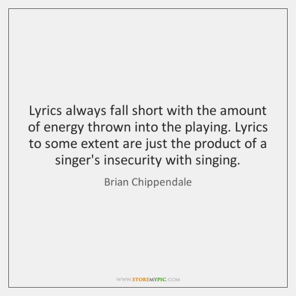 Lyrics always fall short with the amount of energy thrown into the ...