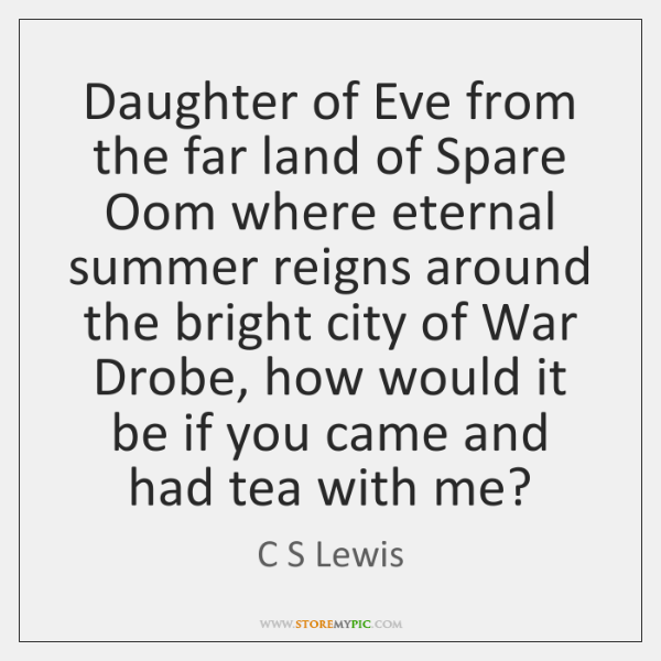 Daughter of Eve from the far land of Spare Oom where eternal ...