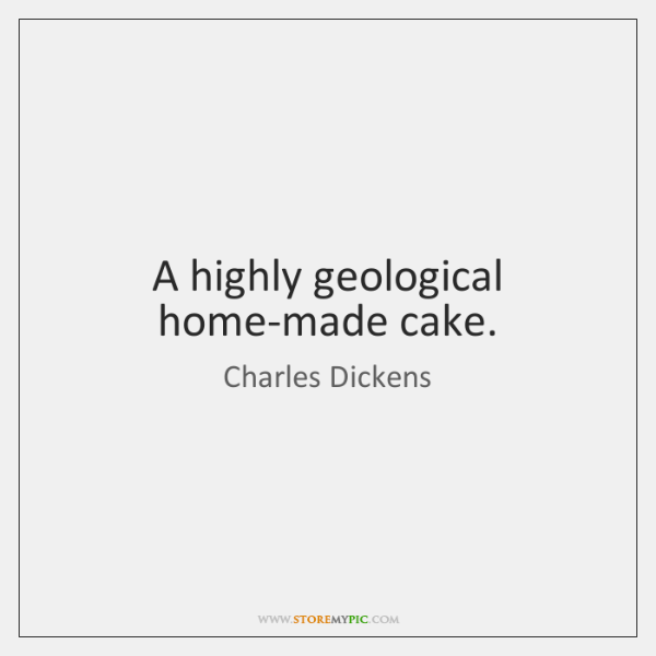 A highly geological home-made cake.