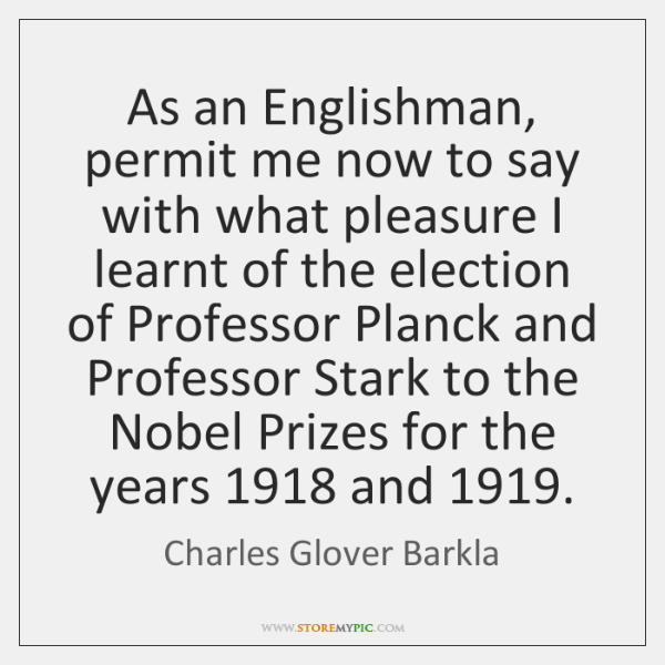 As an Englishman, permit me now to say with what pleasure I ...