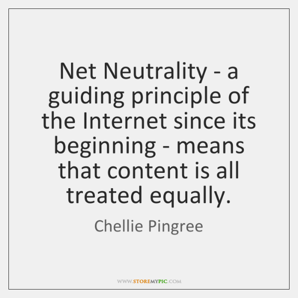Net Neutrality - a guiding principle of the Internet since its beginning ...