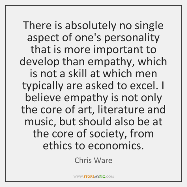 There is absolutely no single aspect of one's personality that is more ...