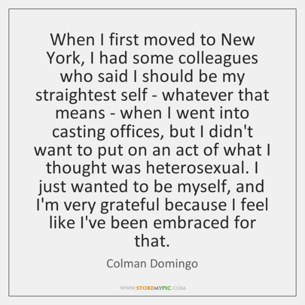 When I first moved to New York, I had some colleagues who ...