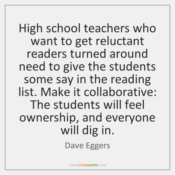 High school teachers who want to get reluctant readers turned around need ...