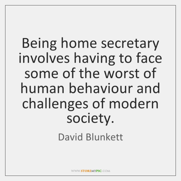 Being home secretary involves having to face some of the worst of ...