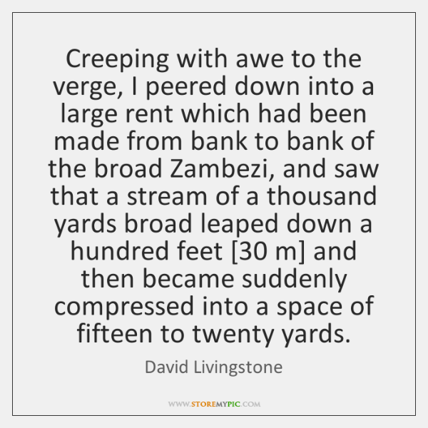 Creeping with awe to the verge, I peered down into a large ...