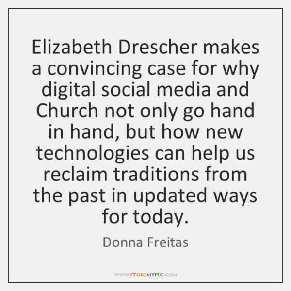 Elizabeth Drescher makes a convincing case for why digital social media and ...