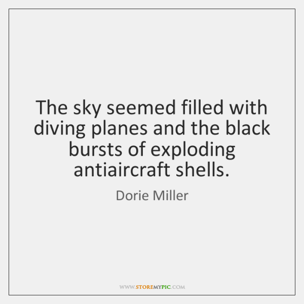 The sky seemed filled with diving planes and the black bursts of ...