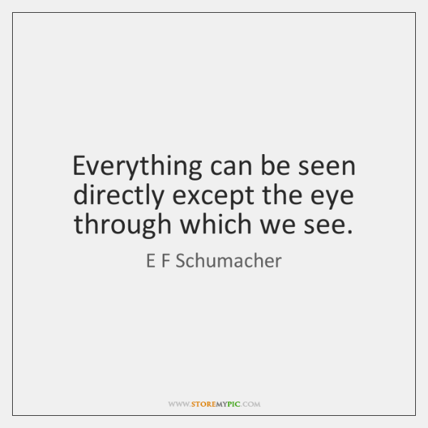 Everything can be seen directly except the eye through which we see.