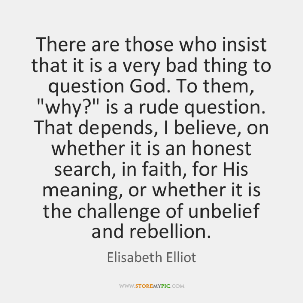 There are those who insist that it is a very bad thing ...