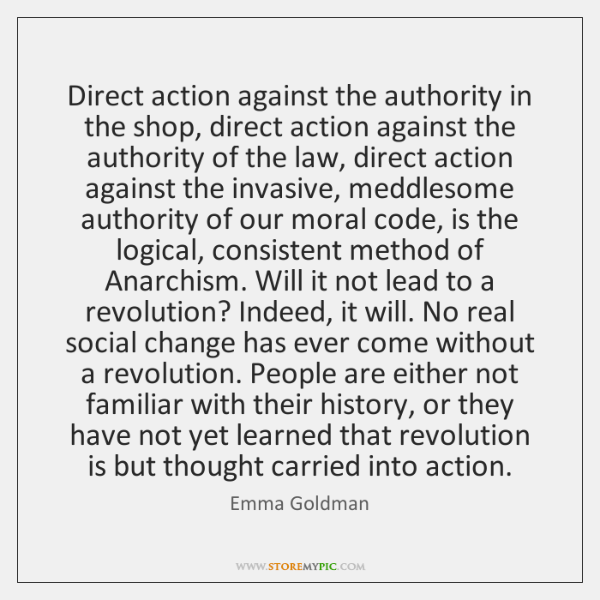 Direct action against the authority in the shop, direct action against the ...
