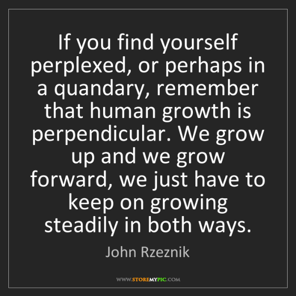 John Rzeznik: If you find yourself perplexed, or perhaps in a quandary,...