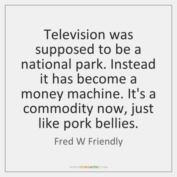 Television was supposed to be a national park. Instead it has become ...