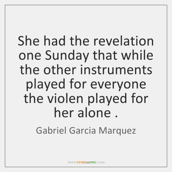 She had the revelation one Sunday that while the other instruments played ...